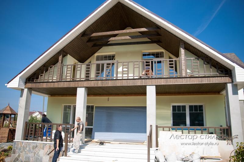 Ограждение балконов из дерева, как сделать перила.