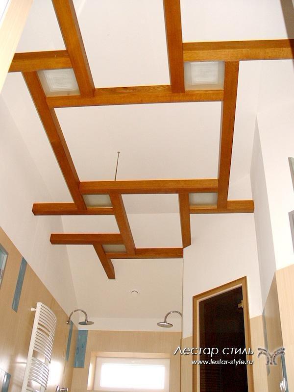 Декоративная балка на потолок своими руками из дерева 29