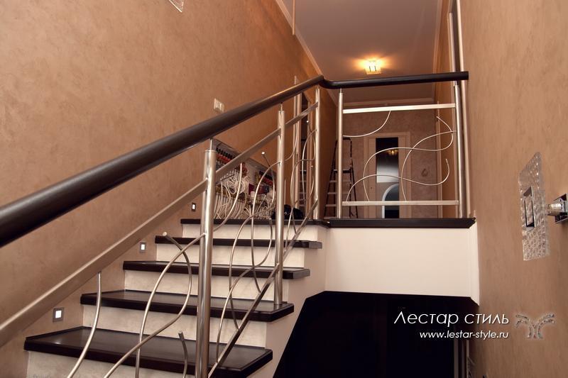 Как сделать перила на лестнице из металла