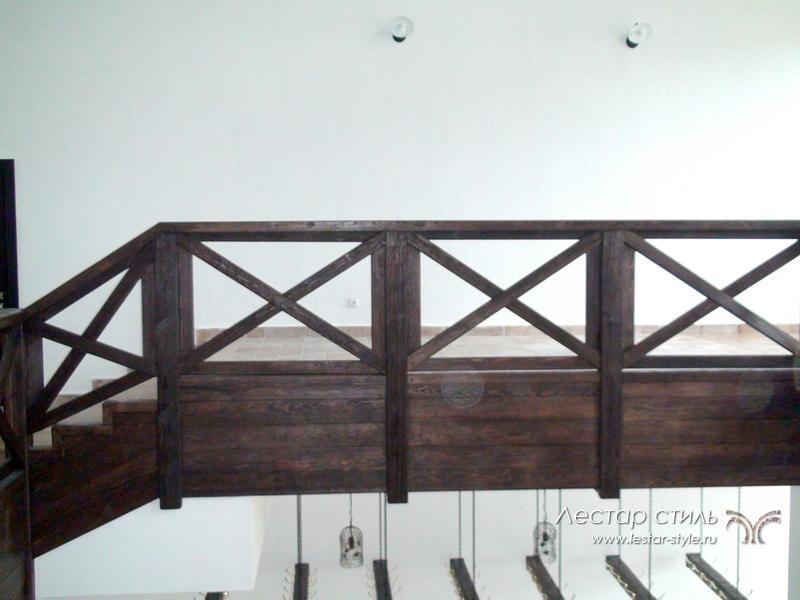 Деревянные перила крест-накрест своими руками 49