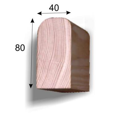 Поручень вертикальный, деревянный