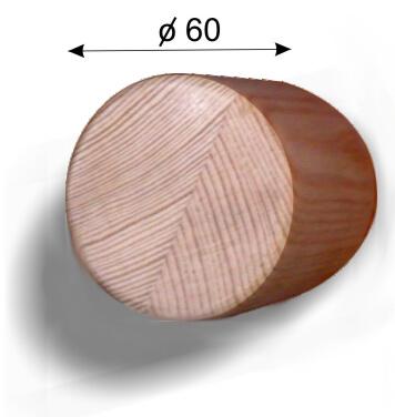 Круглый поручень из дерева